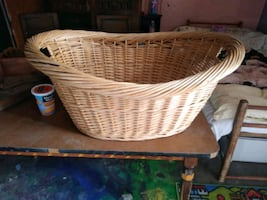 Large wicker laundry basket or pet bed?