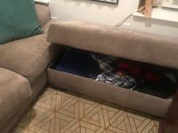 Couch + storage ottoman + pillows NEWYORK