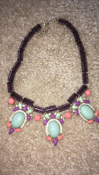 women's multi colored beaded necklace