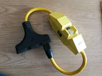 yellow coated cable