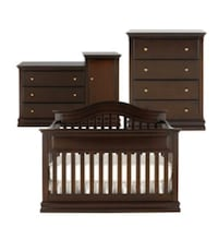 3 Piece Baby furniture Crib Dresser Changing table