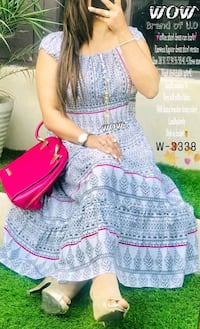 women's pink and white floral dress Coimbatore, 641025