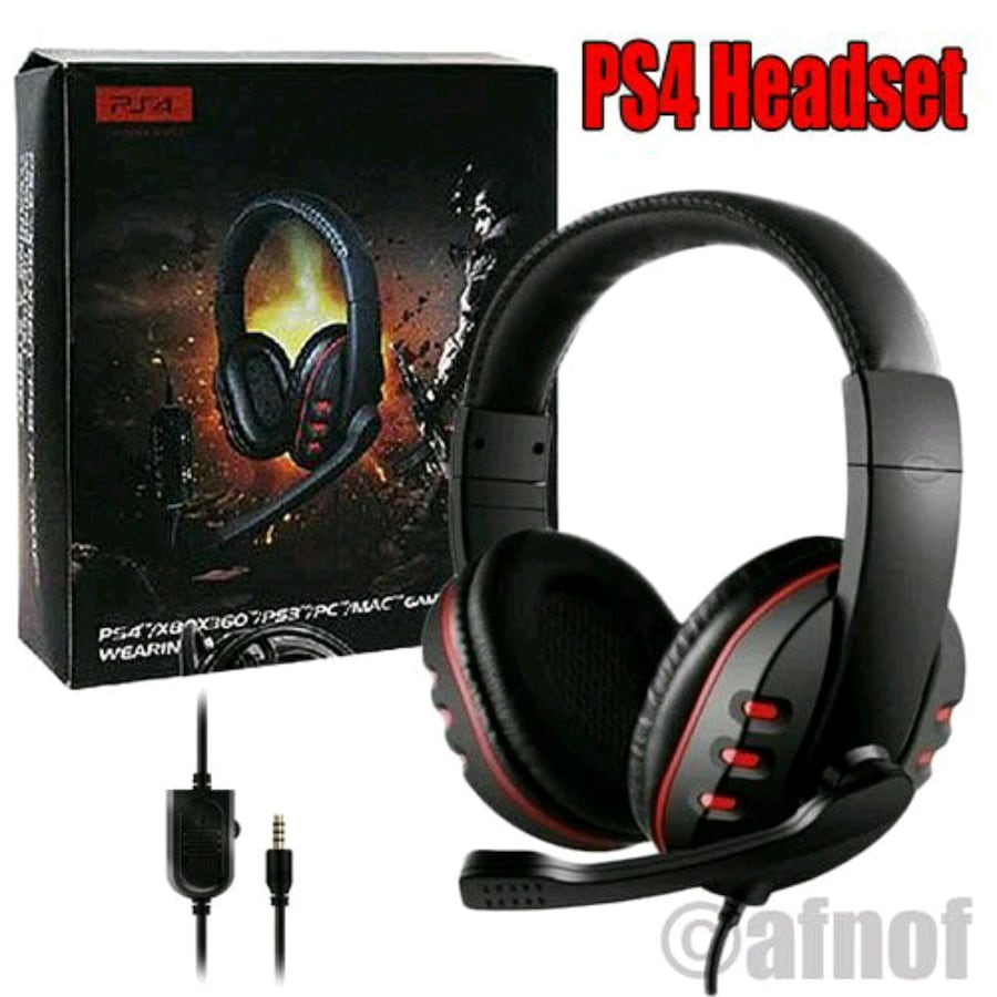 3.5mm Wired Gaming Headphones Game Headset Noise C
