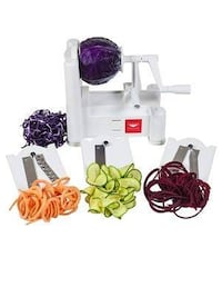 Paderno World Cuisine 3-Blade Vegetable Slicer / Spiralizer, Counter-M