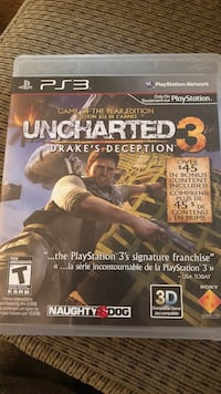 Uncharted 3 ps3 game  East Cleveland, 44112