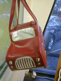 red and black leather crossbody bag 171 mi