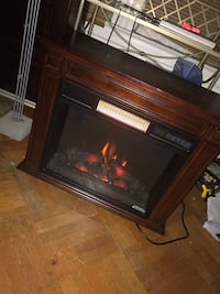 Space heater fire place