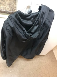 Black XL obey jacket - button up with hoodie, rain jacket material Vancouver, V6A 1Z4