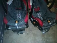baby's black and red car seat carrier Calgary, T3R 1N8