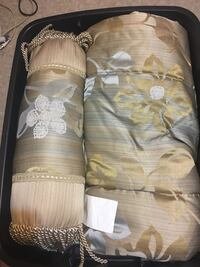 white and brown floral textile Surrey, V3X 2L6