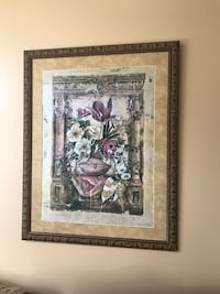 brown wooden framed painting of flowers College Park, 20742