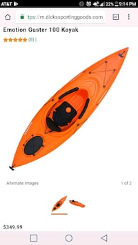 Brand new Lifetime Guster kayak. With paddles! 1913 mi