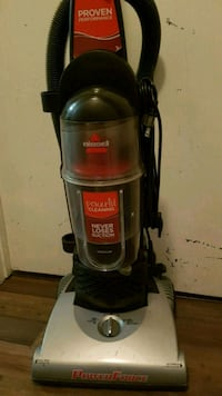 black and gray Bissell upright vacuum cleaner Edmonton, T6L 2E2