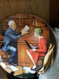 NORMAN ROCKWELL  PLATE  THE PROFESSOR  COA