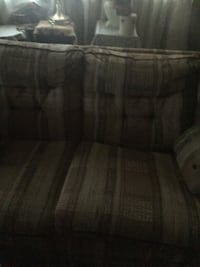 gray and brown fabric sofa Troy, 22974