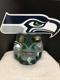 Seattle Seahawk custom hand painted mask - $70.00 Langley, V2Y 0A8