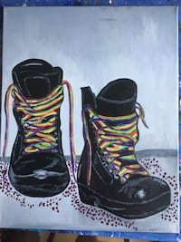 """Colourful Laces"" oil painting  Ottawa, K2A 0G7"