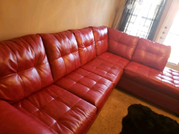 Used Red Leather Sectional Sofa For Sale In Stockbridge Letgo