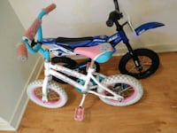 toddler's white and blue bicycle with training whe Aberdeen, 21001