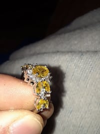 silver-and-gold-colored diamond embellished ring Paso Robles, 93446