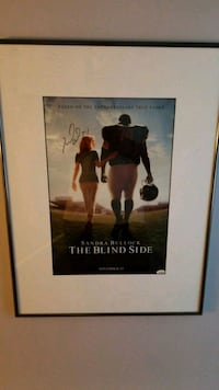 The blind side movie poster signed by Michael Oher New Market, 21774