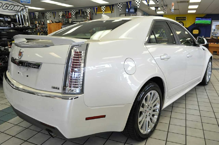 used 2011 cadillac cts performance pkg white tan clean in. Black Bedroom Furniture Sets. Home Design Ideas
