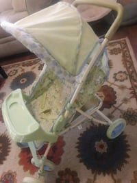 baby's white and green stroller Bay Shore