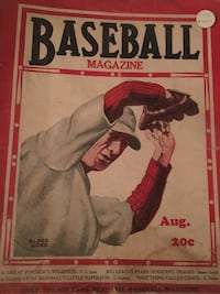 Baseball Magazine fair condition August 1930!  Halethorpe, 21227