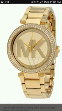 round gold Michael Kors analog watch with gold link bracelet Wilmington, 28411