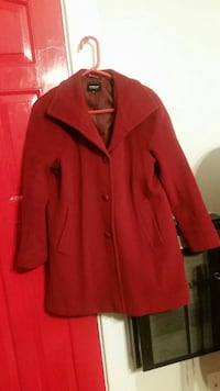 red button-up pea coat Spokane, 99205