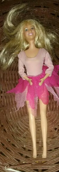 doll in pink fairy dress