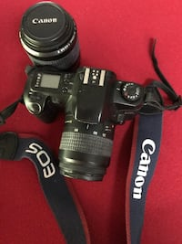 Canon eos 35mm with extra telephoto lens and neck strap.  Excellent condition. Callahan, 32011