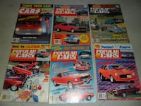 LOT OF 6 VINTAGE POPULAR CARS MAGAZINES BACK ISSUES COMPLETE STREET MACHINE Richmond Hill