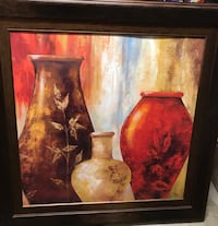 Vases painting in dark wooden frame Copperas Cove, 76522