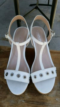 pair of white leather open-toe sandals San Diego, 92102