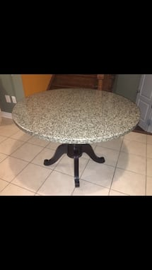 Solid granite,round, 46 inch dining table