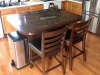 Granite Kitchen Island with Barstools Westminster, 21157