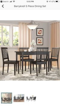 Black kitchen table 4 chairs never used  Alexandria, 22312