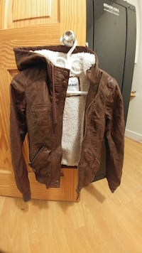 Garage XS faux leather lined jacket
