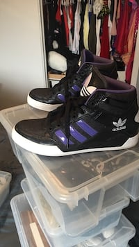 Black and Purple Adidas high tops shoes Oakville, L6H