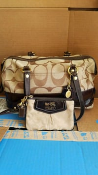 brown and black Coach monogram leather crossbody bag Palmdale, 93550