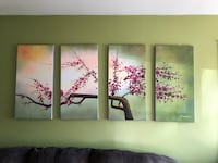 three panel painting of trees Merrionette Park, 60803