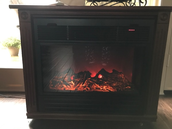 Awesome Amish Electric Fireplace Heater Remote Controlled Interior Design Ideas Inesswwsoteloinfo