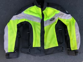 Sliders Kevlar High Vis motorcycle jacket no tears, cuts nor stains..