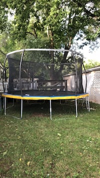 black and red trampoline with enclosure Little Chute, 54140