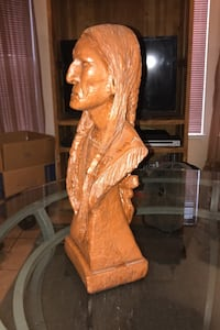 Figurine Native American Indian. Hand carved  17by6 Las Vegas, 89108