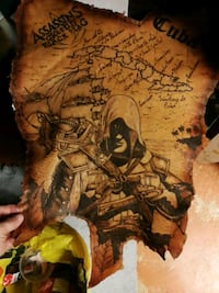 Assassin's creed tattooed leather