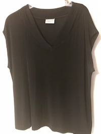 2 Black Sleeveless Shell Tops Size 2X (NO SIZE TAG) $5 each