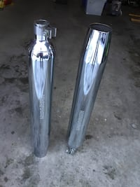 Harley Davidson pair of Chrome mufflers exhaust Motorcycle Acton, 01720