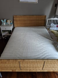 Rattan Queen Bed with Mattress Toronto